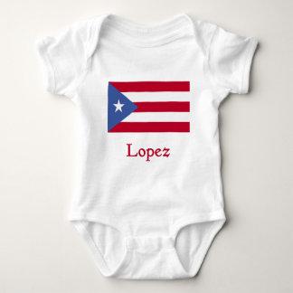 Bandera del puertorriqueño de López Body Para Bebé