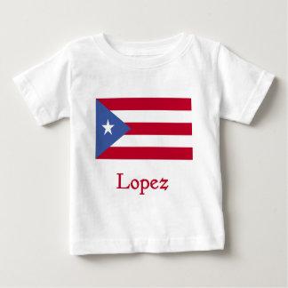 Bandera del puertorriqueño de López Playera De Bebé