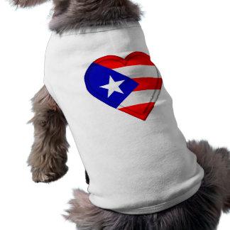 Bandera del puertorriqueño de Puerto Rico Playera Sin Mangas Para Perro
