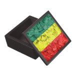 Bandera del rasta del vintage caja de recuerdo de calidad