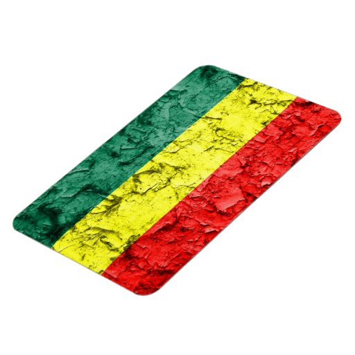 Bandera del rasta del vintage imanes flexibles