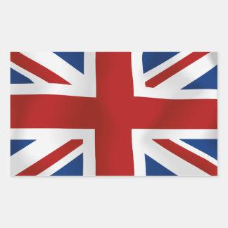 Bandera del rectángulo de Reino Unido #2 Rectangular Pegatinas