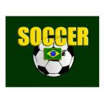 Bandera del regalo del balón de fútbol del logotip