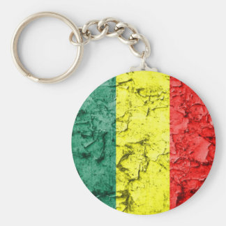 Bandera del reggae del vintage llavero redondo tipo pin