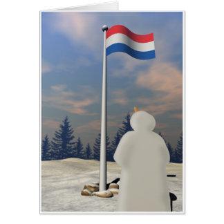 Bandera del Reino de los Países Bajos Tarjeta De Felicitación