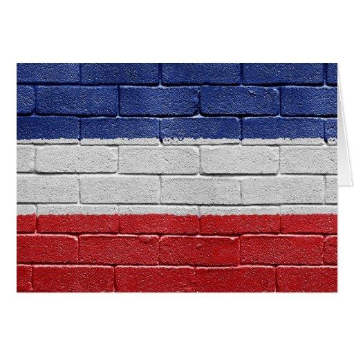 Bandera del reino de Yugoslavia Felicitación