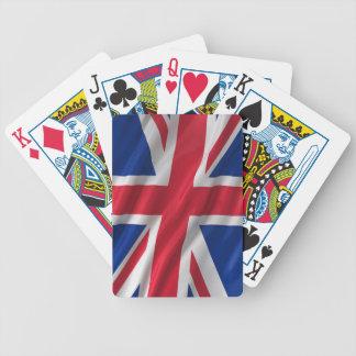 Bandera del Reino Unido Baraja De Cartas