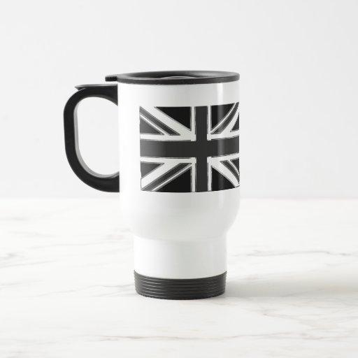 Bandera del Reino Unido - cromo de Union Jack Taza De Café