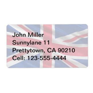 Bandera del Reino Unido Etiquetas De Envío