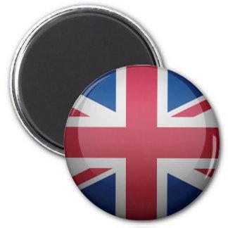 Bandera del Reino Unido Imán Redondo 5 Cm