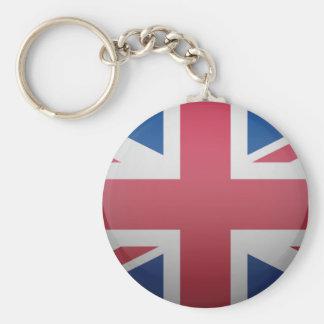 Bandera del Reino Unido Llavero Redondo Tipo Pin