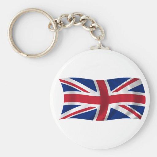 Bandera del Reino Unido Llaveros Personalizados