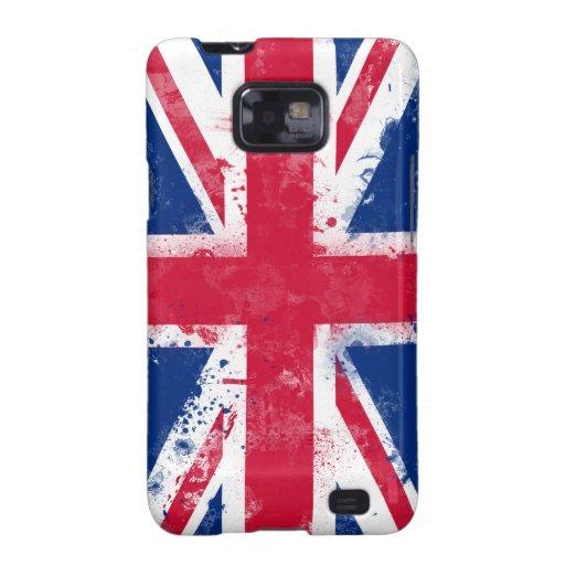 Bandera del Reino Unido o de Union Jack Samsung Galaxy S2 Carcasas