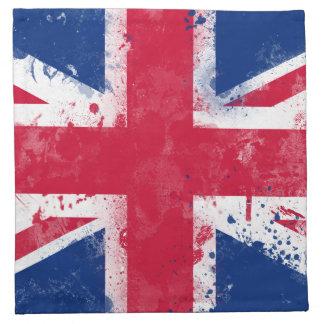 Bandera del Reino Unido o de Union Jack Servilleta