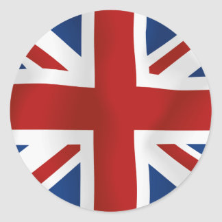 Bandera del Reino Unido Pegatinas Redondas