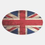Bandera Del Reino Unido Pegatina Oval Personalizadas
