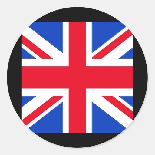 Bandera del Reino Unido Pegatina Redonda