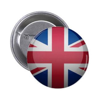 Bandera del Reino Unido Pin Redondo 5 Cm