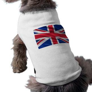 Bandera del Reino Unido Playera Sin Mangas Para Perro