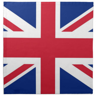 Bandera del Reino Unido Servilleta Imprimida