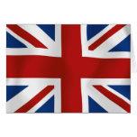 Bandera del Reino Unido Tarjeta De Felicitación