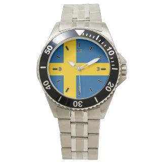 Bandera del reloj clásico del acero inoxidable de
