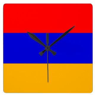 Bandera del reloj de pared de Armenia
