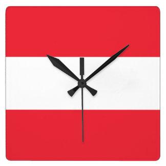 Bandera del reloj de pared de Austria