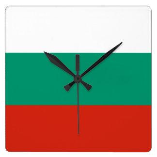 Bandera del reloj de pared de Bulgaria