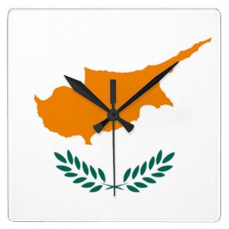 Bandera del reloj de pared de Chipre