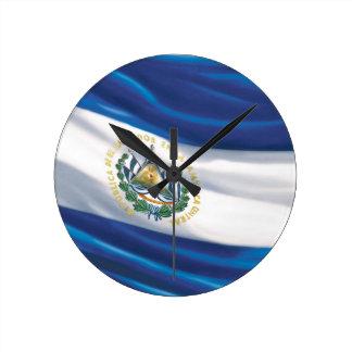 Bandera del reloj de pared de El Salvador