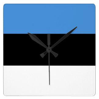 Bandera del reloj de pared de Estonia