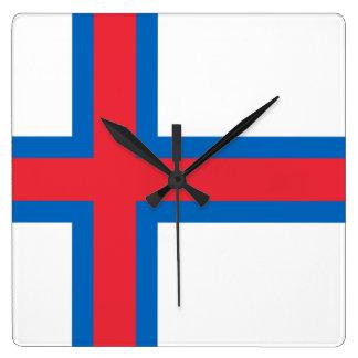 Bandera del reloj de pared de Faroe Island