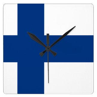 Bandera del reloj de pared de Finlandia
