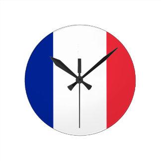 Bandera del reloj de pared de Francia