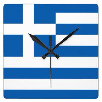 Bandera del reloj de pared de Grecia