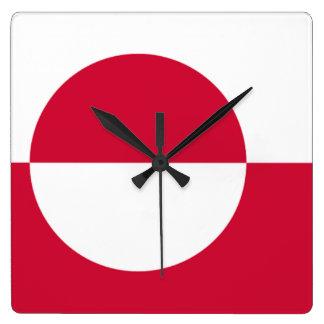 Bandera del reloj de pared de Groenlandia