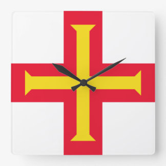 Bandera del reloj de pared de Guernesey