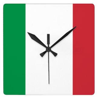 Bandera del reloj de pared de Italia