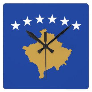 Bandera del reloj de pared de Kosovo