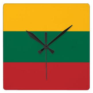 Bandera del reloj de pared de Lituania