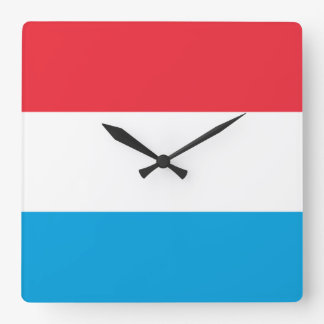 Bandera del reloj de pared de Luxemburgo