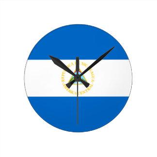 Bandera del reloj de pared de Nicaragua