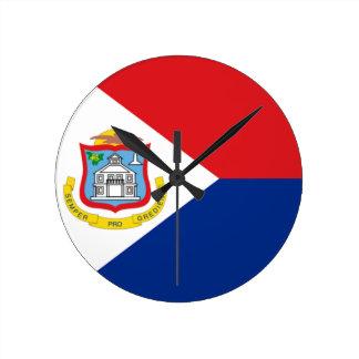 Bandera del reloj de pared de Sint Maarten