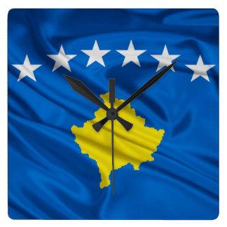 Bandera del reloj de pared superior de Kosovo