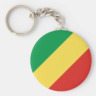 Bandera del República del Congo Llavero