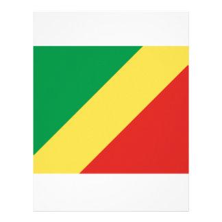Bandera del República del Congo Plantilla De Membrete