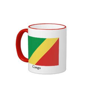 Bandera del República del Congo Taza De Dos Colores