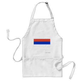 Bandera del República Serbia Delantales