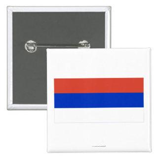 Bandera del República Serbia Pin Cuadrada 5 Cm